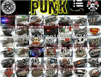 панк рок хип-хоп на синий человек хип-хоп большая голова американский гитаре-черный мужская пряжки Ren sti093