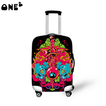 ONE2 Design Fashion travel luggage cover travel bag cover geometric pictures for suitcase girls good quality