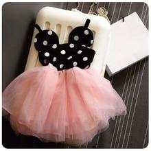 Высокое Качество Младенческой Девочка Платье, Черный Розовый Принцесса Пачки Платья, Детские Подарок На День Рождения Красивый Одежда Kids Fashion одежда