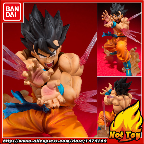 100 Original BANDAI Tamashii Nations Figuarts ZERO Action Figure Son Gokou skill KAMEHAMEHA Ver from Dragon