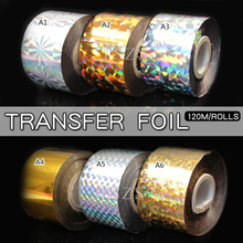 1pcs/lot fashion 120m Nail Art transfer Decal Foil Sticker for Decoration
