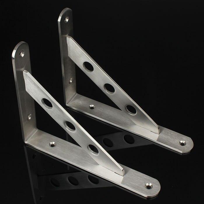 One pair 40cm*3cm Thickness 4mm Stainless steel triangular bracket 3cm huge