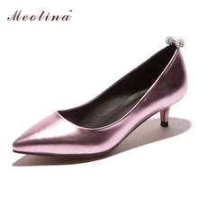 Shoes Women 2016 New Designer Shoes Pointed Toe Low Heels Ladies Shoes Dress Pumps Fashion Heels Sliver Blue Gold Size 42 43