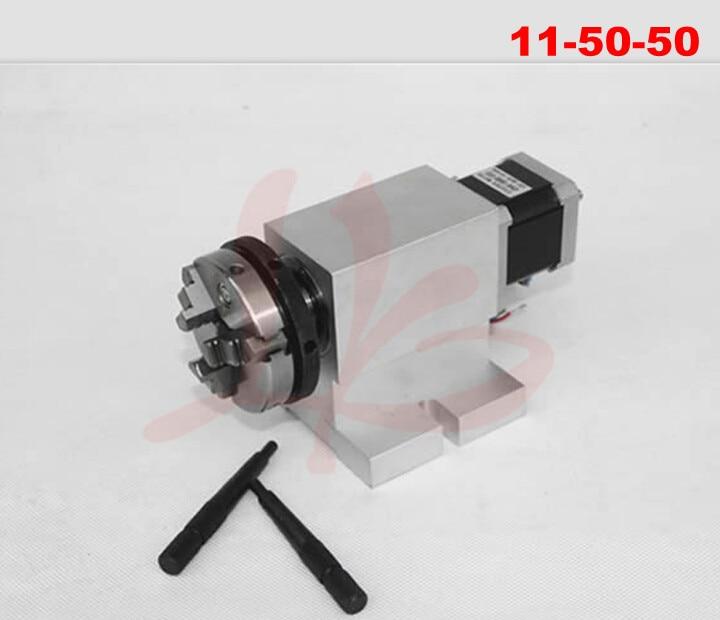 harmonic drive reducer 3 Jaw 50mm chuck rotary axis CNC dividing head austria ruwido i 1k 100k 220k 470k axis length 50mm