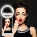 Selfie móvil led anillo de cubierta para el teléfono inteligente android caja luminosa luz del flash iphone 5 5c 5s 6 6 s 7 más lg samsung s6 s7 borde