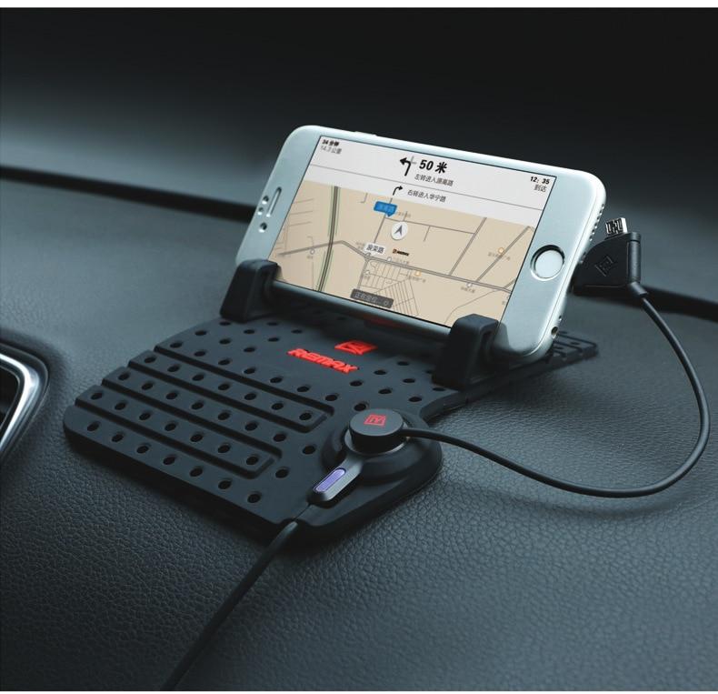 bilder für Remax i7 autotelefonhalter mit ladekabel für iphone 7 plus silicon rutschfeste auto phone stehen halterung für huawei p8 samsung
