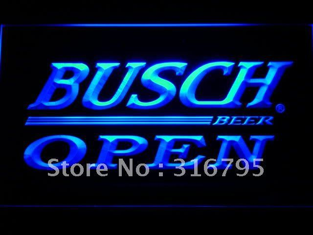 045 Busch Beer OPEN Bar LED Neon Sign with On/Off Switch 7 Colors to choose