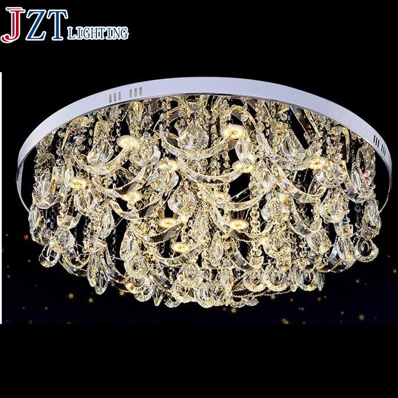 М Лучшая цена 2016 новые роскошные хрустальные Потолочный светильник Гостиная исследование творческий круговой лампа двойной Цвет Дистанци