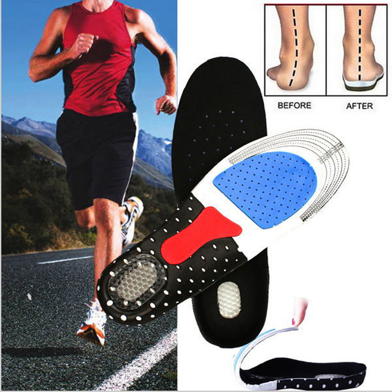 250 Pairs /lot Unisex Orthotic Arch Support Sport Shoe Pad Sport Running Gel Insoles Insert Cushion for Men Women 10 Colors