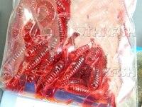 бесплатная доставка EMS / федерал ехпресс! 3.5 см 0.6 г мягкие черви увеличить кошелек черви будет свободно Primacy