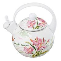 KETTLEVETTAENAMELED 2.2 L WITH WHISTLE ADELE hot cold water tea coffee saucer Cup glass mug bottle drink pot gas stove 894 308