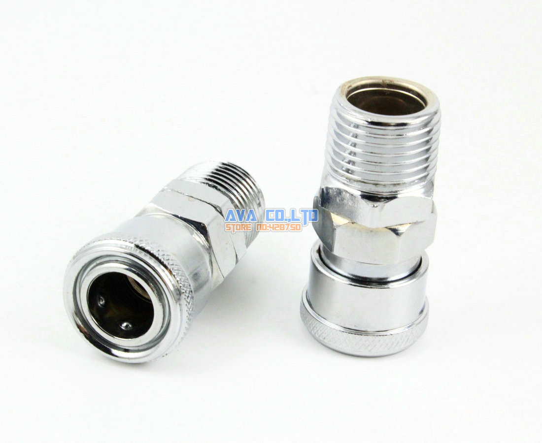 4 Pieces 1/2 BSP Male Air Compressor Hose Quick Coupler Socket Connector guess by marciano повседневные брюки