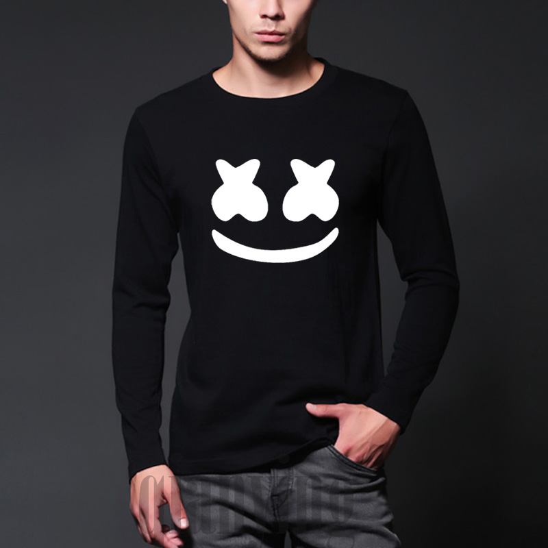 buy new autumn arrived marshmello face men casual homme t shirt cotton tops. Black Bedroom Furniture Sets. Home Design Ideas