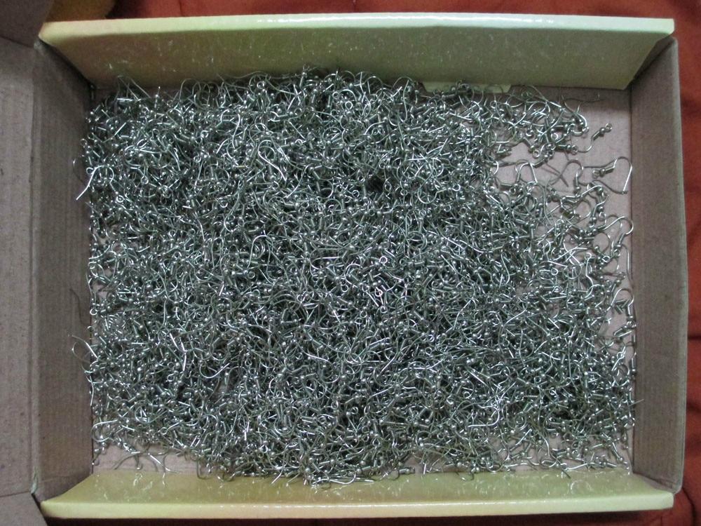 1000 шт/7 USD серебряный Французский проволочный сережки крючки Обычная Катушка ушной проволоки серьги ювелирный разъем