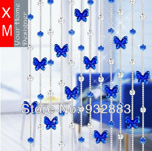 Delightful XM Full Beads With Beautiful Butterfly Beaded Curtain Rideau Curtains For  Kitchen