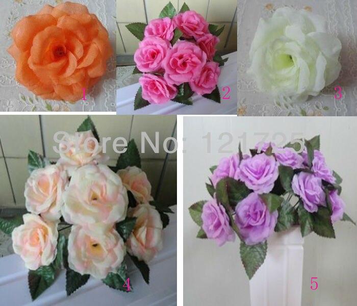 7 лампочек Искусственный цветок розы, свадебное украшение