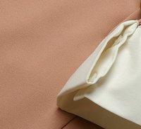 платье длинный рукав, осень и зима виктория бекхэм принт лебедь розовый / синий отложным пуховик воротник леди vb004