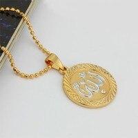 pe100511 оптовая продажа новый самая низкая цена высокое качество бренд кулон эксклюзивный 18kgp «аллах» ожерелье