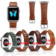 Hot Selling ICARER Genuine Leather Strap Classic Buckle Watch Bands for Apple Watch 38mm/42mm