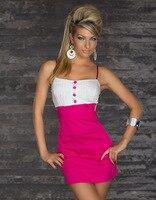 бесплатная доставка sleveless линии спагетти ремень империи лоскутная симпатичные платья