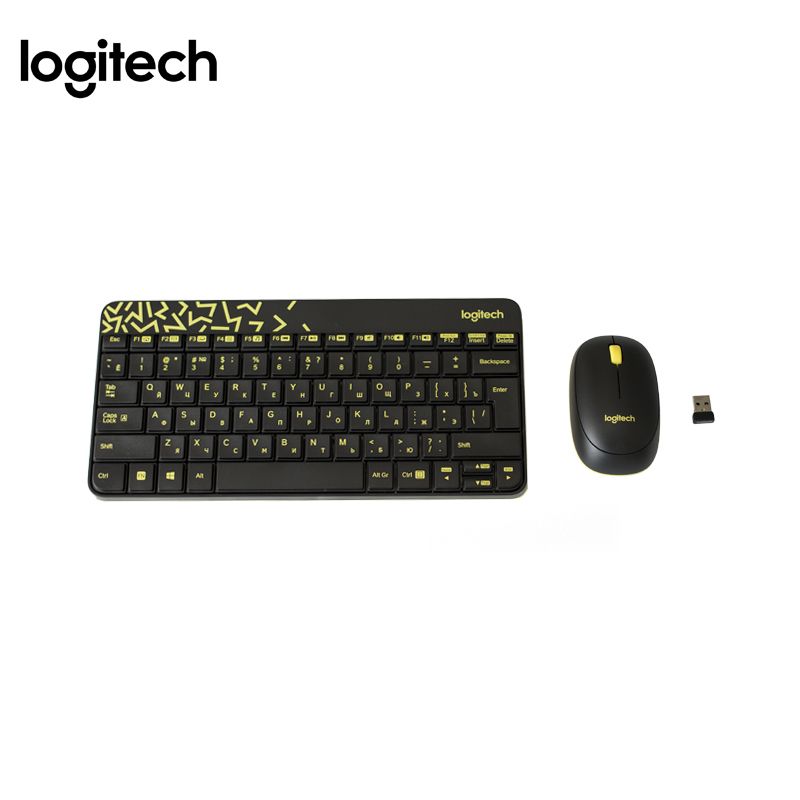 Wireless combo set Computer keyboard+Mouse Logitech MK240 Officeacc rii rt503 2 4ghz wireless bt 3 0 backlit touchpad keyboard black