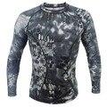 Kryptek Typhon Do Exército T-shirt de manga Longa de compressão apertado camisa Tático Respirável