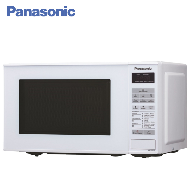 Panasonic NN-GT261WZTE Microwave Oven with grill 1250 W 18 L Delay Timer Child Lock