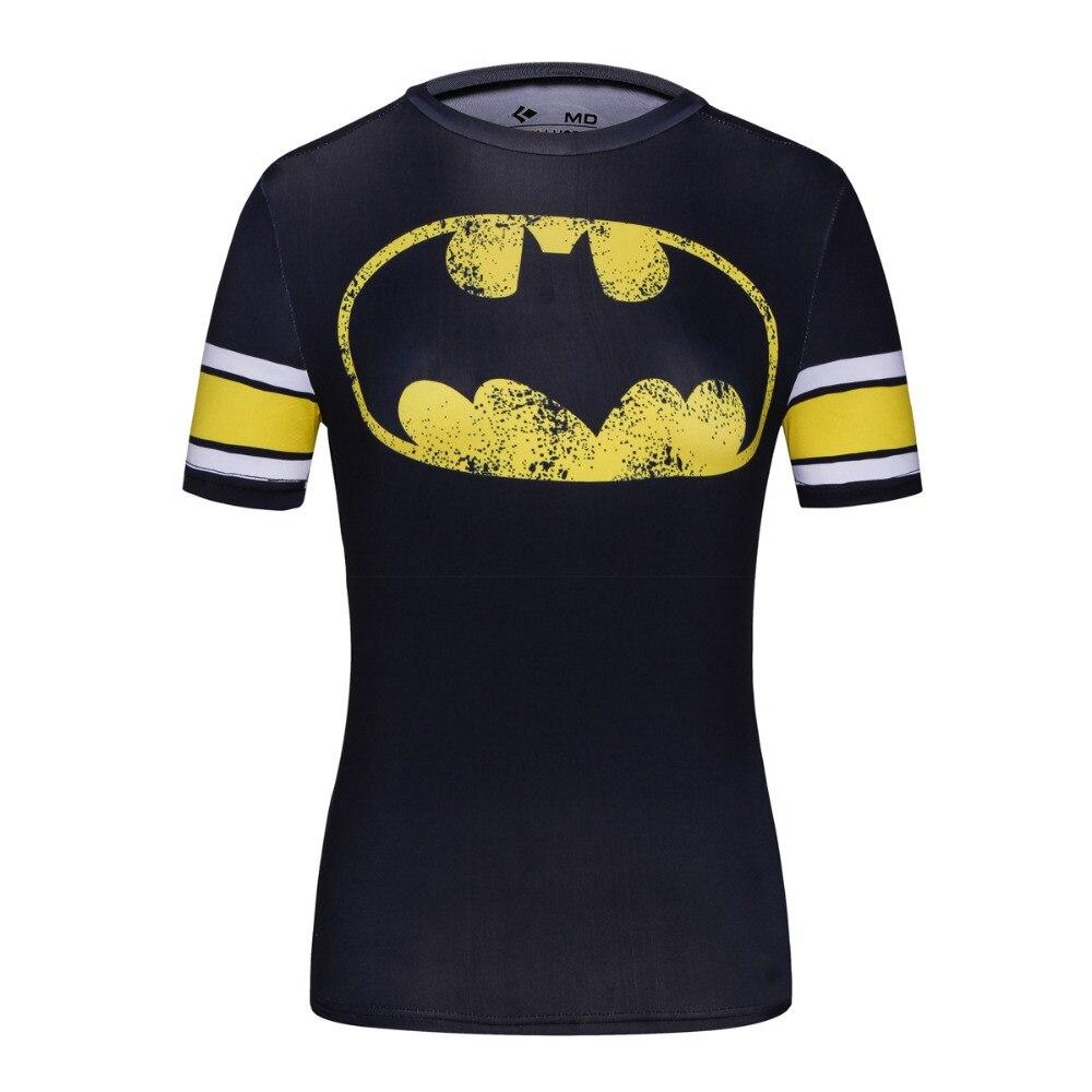 Women Cool Movie Superhero Batgirl and Wonder Women/Batman Classic Logo T Shirt Ladies Costume Fitness Bodybuilding Yoga Tees