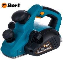 Рубанок электрический Bort BFB-850-T(Ширина обработки 82 мм, 850 Вт, возможность стационарной установки, выборка четверти, пылесборный мешок)