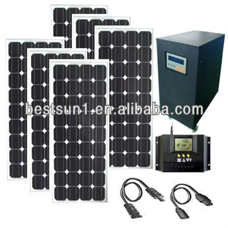 4kW 4000W solar home sistem kit Plug In DIY Solar system ...