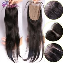 DHL Free Shipping 9A Brazilian Virgin Hair Silk Base Closures Human Hair Closure Silk Closure 4×4 Top Silk Base Closure Straight