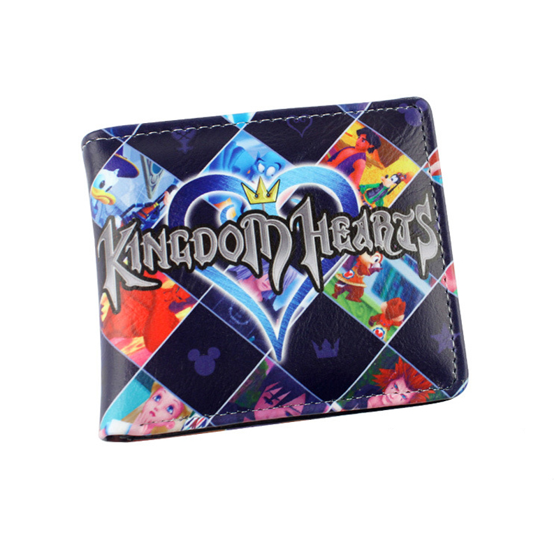 Anime Kingdom Hearts sora riku kairi PU Short Wallet Purse Colorful Printing Type B