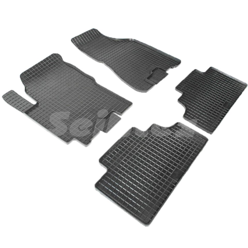 For Kia Sportage 2004-2010 rubber grid floor mats into saloon 4 pcs/set Seintex 00151