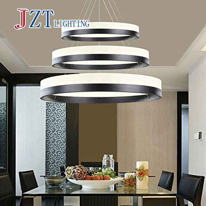 M Best Price Modern Chandelier Acrylic Lamps 3 Ring Led Fashion Designer Hanging Lamp Circle Diameter 604020cm In Pendant Lights From