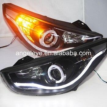For HYUNDAI for IX35 Tucson headlights 2009-2013 year LED Front light head lamp LF