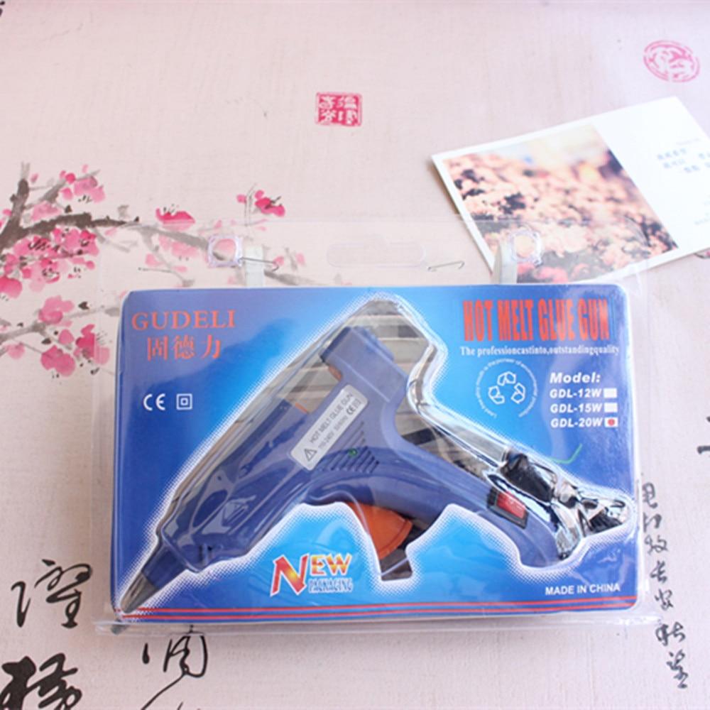 EU/US Plug Temp Heater Hot Glue Gun 20W Handy Professional with 27cm Glue Sticks Graft Repair Heat Ggun Pneumatic Tools Electric