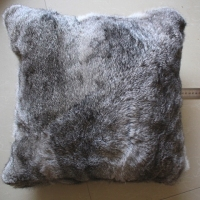 Customized Genuine grey color new fashion rabbit fur pillow