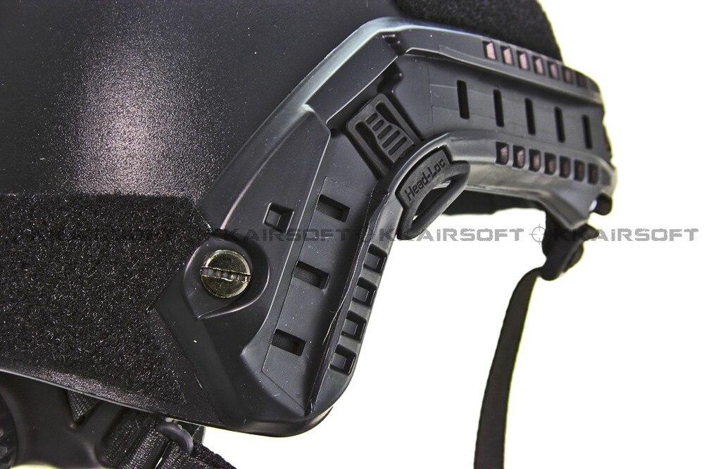 Велосипедный шлем страйкбол Быстрый Шлем для бейсджампинга черный
