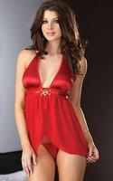 m xl xxl черный синий красный кружева v подключать секси смазливая секс женщины корсет женское белье юбки платье пижамы пижамы большой размер h2127