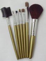 семь щетки золотой цвет кисти обрабатывать золото косметичка шерсть значение бесплатная доставка
