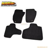 עבור 08-13 ג 'יפ ליברטי 4Dr שטיח מחצלות רצפת משלוח קדמי ואחורי ניילון שחור 4 PC ארה