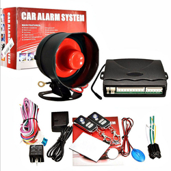 Car Alarm System One Way Vehicle Burglar Alarm Security Protection System with 2 Remote Control Auto Central Door Locking Device