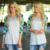 2017 modelos de explosión de la nueva capa del invierno mujer rayada de costura de impresión de la Camiseta Delgada