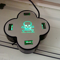 Snigir Marca 4 puertos usb 2.0 hub de múltiples micro con el poder divisor divisor Micro interruptor de velocidad del puerto 4 puertos agestar portas hab