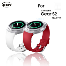 Top Quality Luxury brand Silicone Rubber Watch Band Strap For Samsung Galaxy Gear S2 SM R720