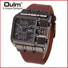 OULM fashion Men Watch Sports Watch Male Watch Unique Designed New With Tags Multiple Time Zone Casual Style Quartz Watch