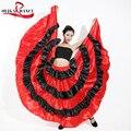 Free shipping Brazil dance costume spanish performance use gypsy robe de Flamenco skirts Belly dance dress red Skirts