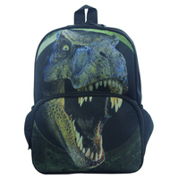 Colorful 12Inch Unisex School Backpack Large Capacity 3D Vivid Animal Face Print Polyester Backpack