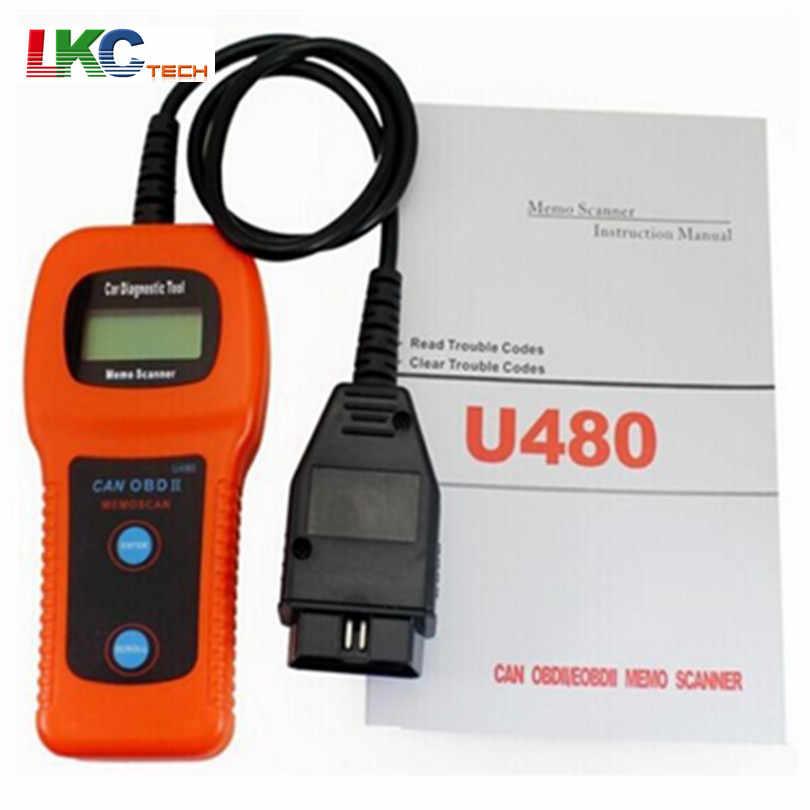 2019 A + Kalite U480 OBD OBD2 Araç Teşhis Tarayıcı Araçları U480 CAN BUS ve Motor Kod Okuyucu