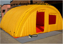 2017 yellow large cube  inflatable tent camping shelter with doors and window holiday inflatable tent from factory china